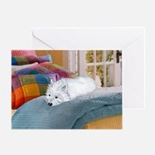 Westie Napping Greeting Card