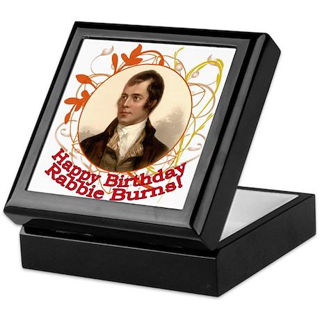 Happy Birthday Rabbie Burns Keepsake Box