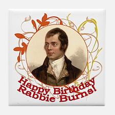 Happy Birthday Rabbie Burns Tile Coaster