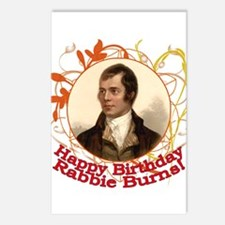 Happy Birthday Rabbie Burns Postcards (Package of