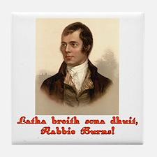 Happy Birthday in Scottish Gaelic Tile Coaster