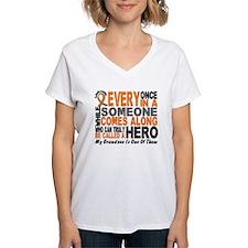 HERO Comes Along 1 Grandson LEUKEMIA Shirt