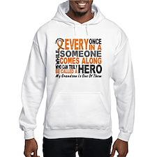 HERO Comes Along 1 Grandson LEUKEMIA Hoodie Sweatshirt