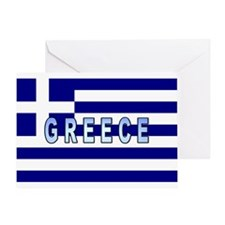 Greece Flag Labeled Greeting Card