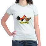 Leghorns Rooster & Hen Jr. Ringer T-Shirt