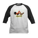 Leghorns Rooster & Hen Kids Baseball Jersey