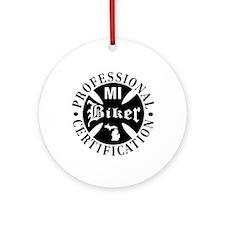 Biker Michigan Ornament (Round)