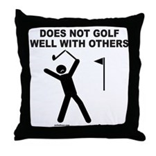 GOLF HUMOR Throw Pillow