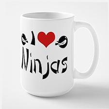 I heart Ninjas Large Mug