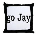 go Jay Throw Pillow