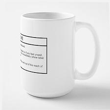 Large Caffeine Hazard Mug