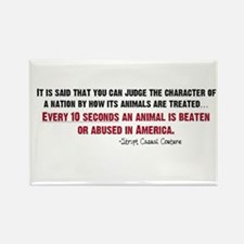 Animal Abuse Statement Rectangle Magnet