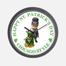 HAPPY ST PATRICK'S DAY - CHICAGO STYLE Wall Clock