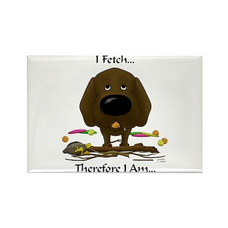 Chocolate Lab - I Fetch... Rectangle Magnet (10 pa
