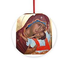 Funny Orthodox theotokos Ornament (Round)