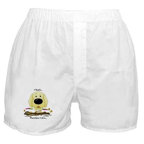 Yellow Lab - I Fetch... Boxer Shorts