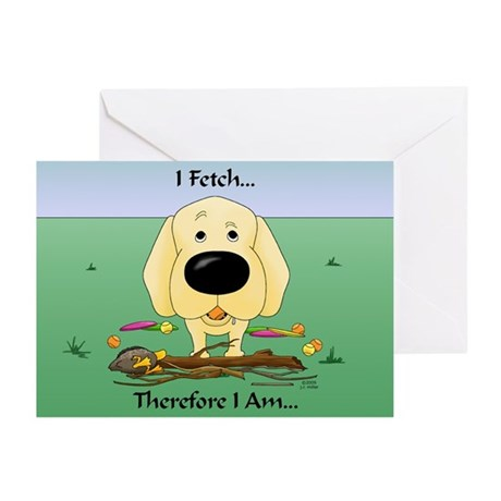 Yellow Lab - I Fetch... Greeting Cards (Pk of 10)