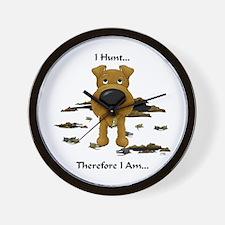 Irish Terrier - I Hunt... Wall Clock
