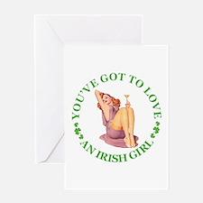 YOU'VE GOT TO LOVE AN IRISH GIRL Greeting Card