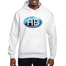 HB Hampton Beach, NH Wave Oval Hoodie