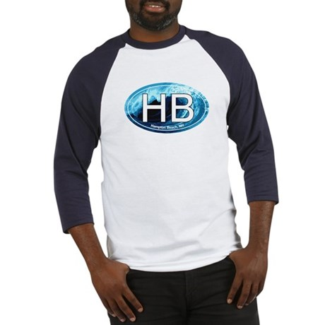 HB Hampton Beach, NH Wave Oval Baseball Jersey