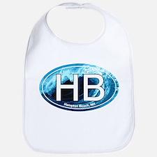 HB Hampton Beach, NH Wave Oval Bib