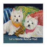Terrier Tile Coasters