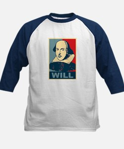 Pop Art William Shakespeare Kids Baseball Jersey