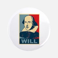 "Pop Art William Shakespeare 3.5"" Button"