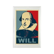 Pop Art William Shakespeare Rectangle Magnet