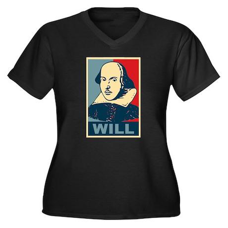 Pop Art William Shakespeare Women's Plus Size V-Ne