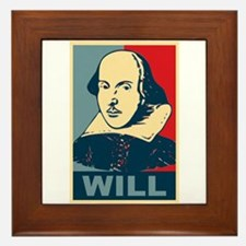 Pop Art William Shakespeare Framed Tile