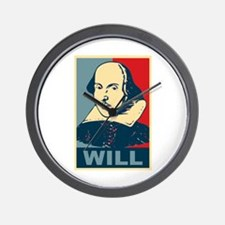 Pop Art William Shakespeare Wall Clock