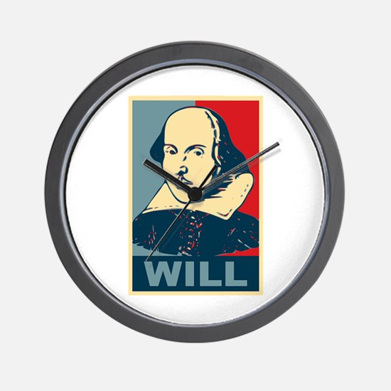 Pop Art William Shakespeare Wall Clock