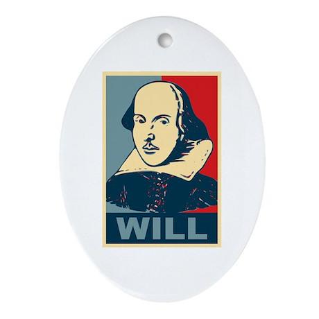Pop Art William Shakespeare Ornament (Oval)