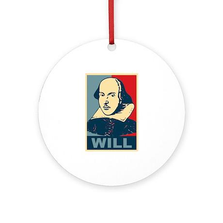 Pop Art William Shakespeare Ornament (Round)