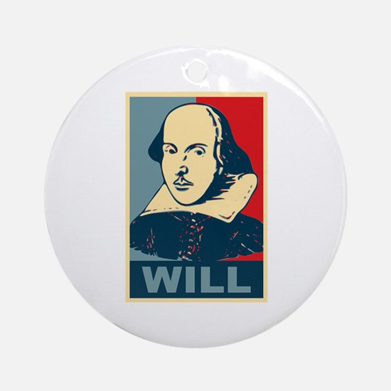 Pop Art William Shakespeare Ornament (Round)
