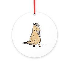 Palomino Pony Ornament (Round)