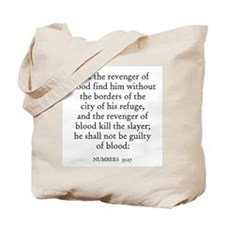 NUMBERS  35:27 Tote Bag