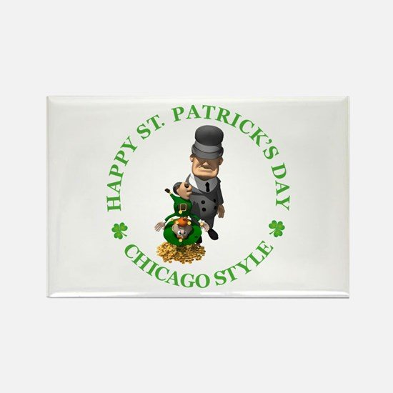 HAPPY ST PATRICKS DAY - CHICAGO S Rectangle Magnet