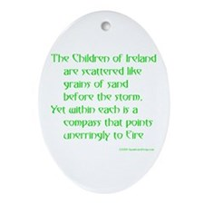 Children of Ireland Oval Ornament