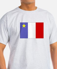 Acadian Flag (2-sided) T-Shirt