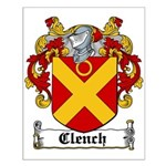 Clench Coat of Arms Small Poster