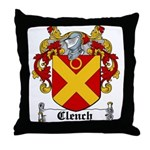 Clench Coat of Arms Throw Pillow