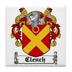 Clench Coat of Arms Tile Coaster