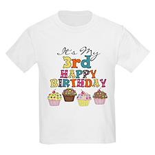 Cupcakes 3rd Birthday T-Shirt