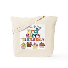 Cupcakes 3rd Birthday Tote Bag