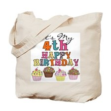 Cupcakes 4th Birthday Tote Bag