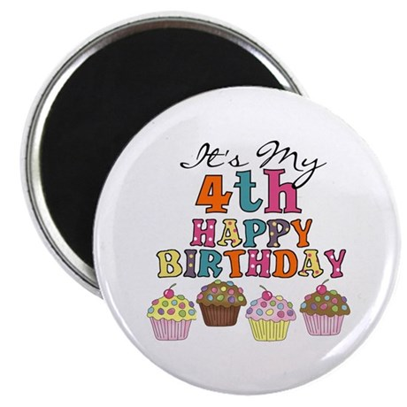 Cupcakes 4th Birthday Magnet