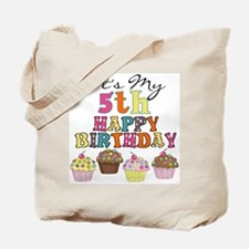 Cupcakes 5th Birthday Tote Bag